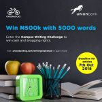 Union Bank and Okadabooks Sponsor N500,000 Campus Writing Competition.