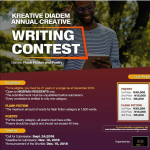 Kreative Diadem Annual Writing Contest Opens For Submission.
