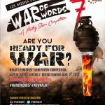 Nigeria's Biggest Poetry Slam: War of Words is here again.