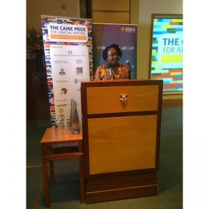 Chair of Trustees, Ellah Wakatama Allfrey at the Caine Prize 2019, London